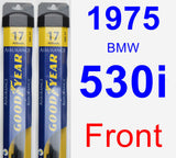 Front Wiper Blade Pack for 1975 BMW 530i - Assurance