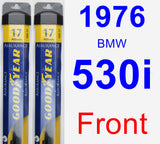 Front Wiper Blade Pack for 1976 BMW 530i - Assurance