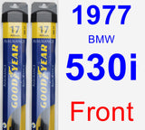 Front Wiper Blade Pack for 1977 BMW 530i - Assurance