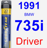 Driver Wiper Blade for 1991 BMW 735i - Assurance