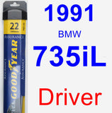 Driver Wiper Blade for 1991 BMW 735iL - Assurance