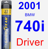Driver Wiper Blade for 2001 BMW 740i - Assurance
