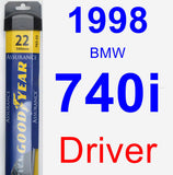 Driver Wiper Blade for 1998 BMW 740i - Assurance