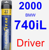 Driver Wiper Blade for 2000 BMW 740iL - Assurance