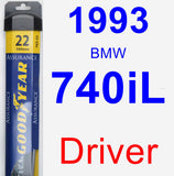 Driver Wiper Blade for 1993 BMW 740iL - Assurance