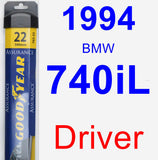 Driver Wiper Blade for 1994 BMW 740iL - Assurance
