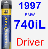 Driver Wiper Blade for 1997 BMW 740iL - Assurance