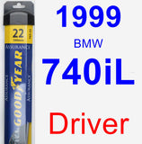 Driver Wiper Blade for 1999 BMW 740iL - Assurance