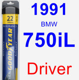 Driver Wiper Blade for 1991 BMW 750iL - Assurance