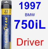 Driver Wiper Blade for 1997 BMW 750iL - Assurance