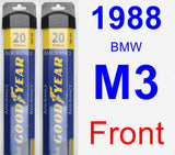 Front Wiper Blade Pack for 1988 BMW M3 - Assurance