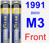 Front Wiper Blade Pack for 1991 BMW M3 - Assurance