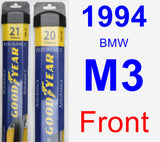 Front Wiper Blade Pack for 1994 BMW M3 - Assurance