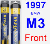 Front Wiper Blade Pack for 1997 BMW M3 - Assurance