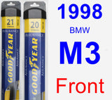 Front Wiper Blade Pack for 1998 BMW M3 - Assurance