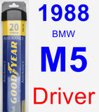 Driver Wiper Blade for 1988 BMW M5 - Assurance
