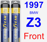 Front Wiper Blade Pack for 1997 BMW Z3 - Assurance