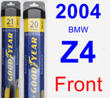 Front Wiper Blade Pack for 2004 BMW Z4 - Assurance
