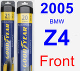 Front Wiper Blade Pack for 2005 BMW Z4 - Assurance