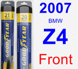 Front Wiper Blade Pack for 2007 BMW Z4 - Assurance
