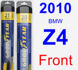 Front Wiper Blade Pack for 2010 BMW Z4 - Assurance