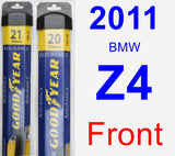 Front Wiper Blade Pack for 2011 BMW Z4 - Assurance