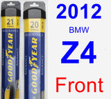 Front Wiper Blade Pack for 2012 BMW Z4 - Assurance