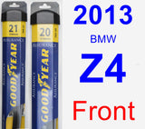 Front Wiper Blade Pack for 2013 BMW Z4 - Assurance