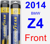 Front Wiper Blade Pack for 2014 BMW Z4 - Assurance