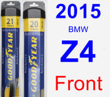 Front Wiper Blade Pack for 2015 BMW Z4 - Assurance