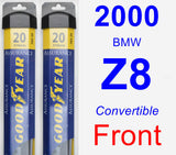 Front Wiper Blade Pack for 2000 BMW Z8 - Assurance