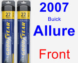 Front Wiper Blade Pack for 2007 Buick Allure - Assurance