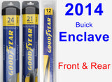 Front & Rear Wiper Blade Pack for 2014 Buick Enclave - Assurance