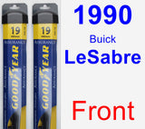 Front Wiper Blade Pack for 1990 Buick LeSabre - Assurance