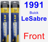 Front Wiper Blade Pack for 1991 Buick LeSabre - Assurance