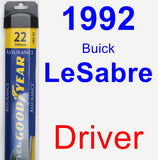 Driver Wiper Blade for 1992 Buick LeSabre - Assurance