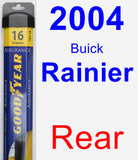 Rear Wiper Blade for 2004 Buick Rainier - Assurance