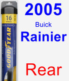 Rear Wiper Blade for 2005 Buick Rainier - Assurance