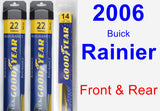 Front & Rear Wiper Blade Pack for 2006 Buick Rainier - Assurance