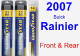 Front & Rear Wiper Blade Pack for 2007 Buick Rainier - Assurance