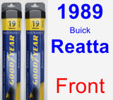 Front Wiper Blade Pack for 1989 Buick Reatta - Assurance