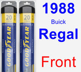Front Wiper Blade Pack for 1988 Buick Regal - Assurance