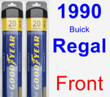 Front Wiper Blade Pack for 1990 Buick Regal - Assurance