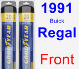 Front Wiper Blade Pack for 1991 Buick Regal - Assurance