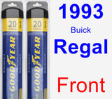 Front Wiper Blade Pack for 1993 Buick Regal - Assurance