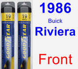 Front Wiper Blade Pack for 1986 Buick Riviera - Assurance