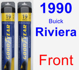 Front Wiper Blade Pack for 1990 Buick Riviera - Assurance