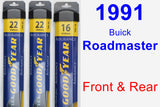 Front & Rear Wiper Blade Pack for 1991 Buick Roadmaster - Assurance