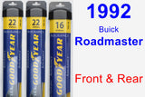 Front & Rear Wiper Blade Pack for 1992 Buick Roadmaster - Assurance