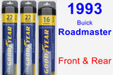 Front & Rear Wiper Blade Pack for 1993 Buick Roadmaster - Assurance